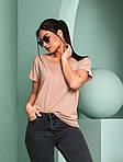 Женская футболка, турецкая вискоза, р-р универсальный 50-54 (бежевый), фото 2
