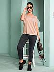 Женская футболка, турецкая вискоза, р-р универсальный 50-54 (бежевый), фото 3