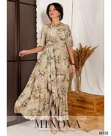 Нарядное макси платье с цветочным принтом из вискозы с 46 по 56 размер, фото 3