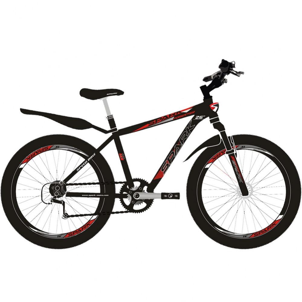 "Велосипед 26"" FORESTER, рама - 19, Сталь"