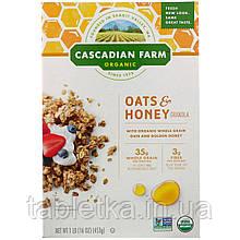 Cascadian Farm, Органическая гранола с овсянкой и медом, 453г (16унций)