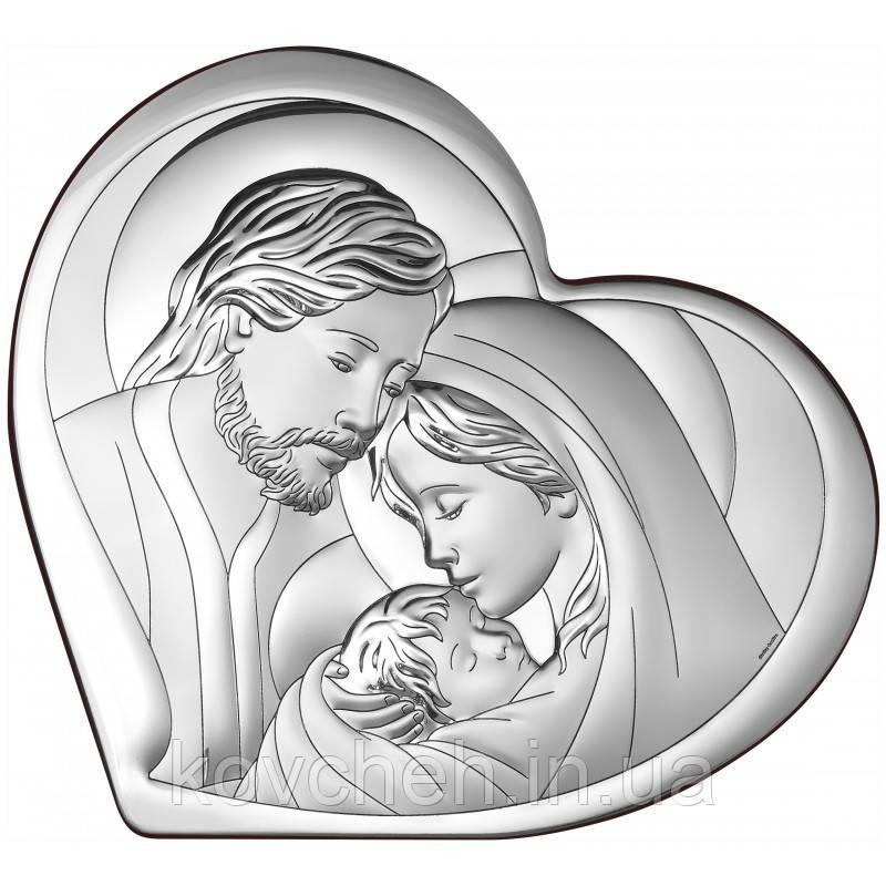 """Ікона срібна """"Свята родина"""", 36x33"""