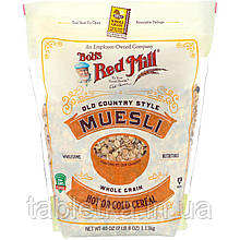 Bob's Red Mill, Muesli, Old Country Style, Whole Grain, 40 oz (1.13 kg)
