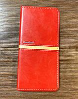Чехол-книжка на телефон Tecno Spark 6 Go красного цвета