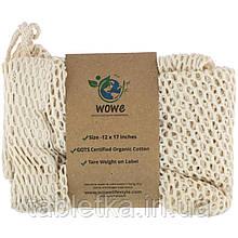 Wowe, Certified Organic Cotton Mesh Bag, 1 Bag, 12 in x 17 in