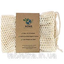 Wowe, Certified Organic Cotton Mesh Bag, 1 Bag, 8 in x12 in
