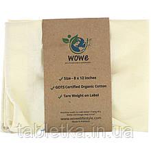 Wowe, Certified Organic Cotton Muslin Bag, 1 Bag, 8 in x 12 in