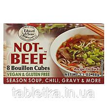 Edward & Sons, Not-Beef Bouillon Cubes, 8 Cubes, 3.1 oz (88 g)