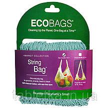 ECOBAGS, Коллекция Market, сетчатая сумка, с ручками 10 дюймов, голубой цвет, 1 сумка