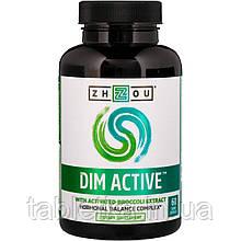 Zhou Nutrition, DIM Active, комплекс для гормонального балансу, 60 капсул вегетаріанських