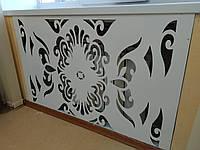 Декоративная решетка на батарею, экран на радиатор отопления металлический