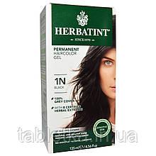 Herbatint, Стойкая гель-краска для волос, 1N, черный, 135 мл (4,56 жидкой унции)