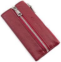 Женская ключница бордового цвета на молнии Marco Coverna