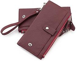 Женский купюрник с запястным ремешком ST Leather