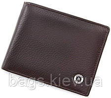 Коричневый кожаный кошелек с зажимом BOSTON