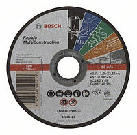 Круг отрезной Bosch MULTICONSTRUCT. 125х1.0 мм 2608602385
