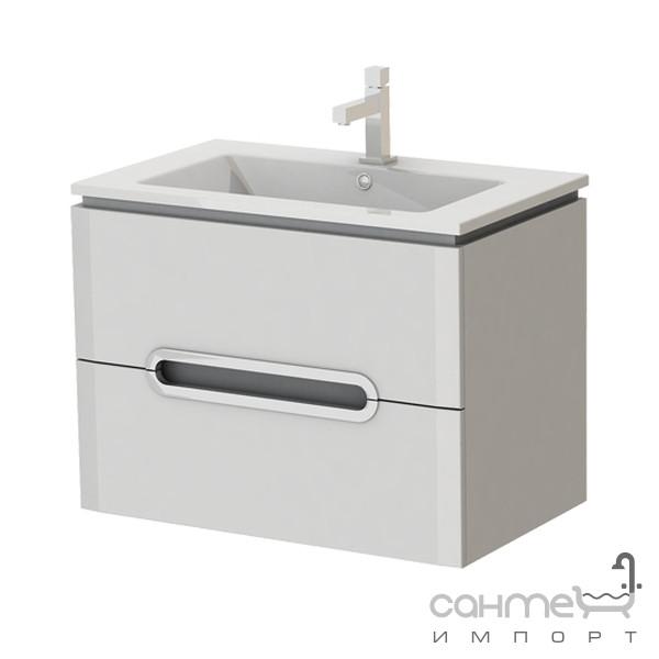 Мебель для ванных комнат и зеркала Ювента Тумба с раковиной Ювента Prato (Прато) Pr-75 белая