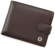 Кожаное мужское портмоне коричневого цвета BOSTON