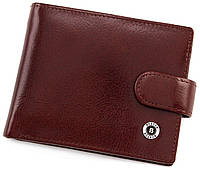 Кожаное мужское портмоне на кнопке BOSTON, фото 1