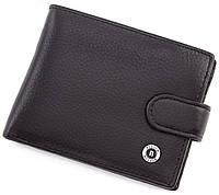 Мужское кожаное портмоне с фиксацией на кнопку BOSTON, фото 1