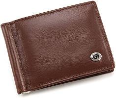 Шкіряний затиск для грошей коричневого кольору ST Leather