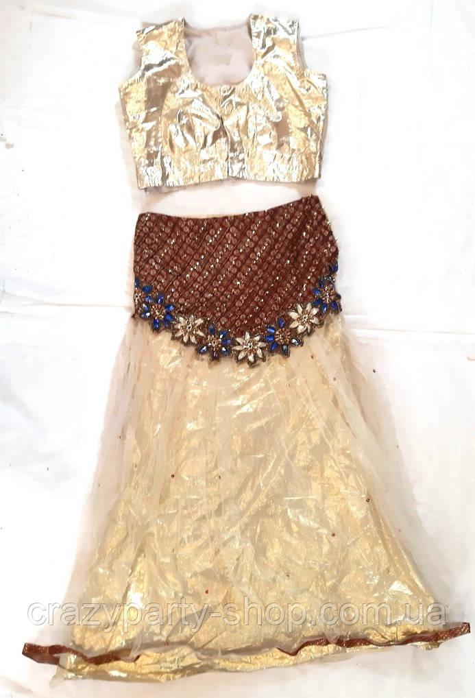 Карнавальний костюм золотистий Східна красуня XS б/у