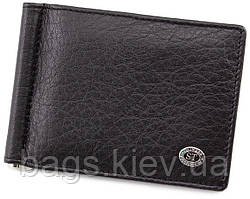 Мужской кожаный зажим для купюр с монетницей ST Leather