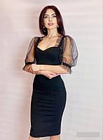 Жіноче плаття міді з щільного трикотажу Poliit 8810