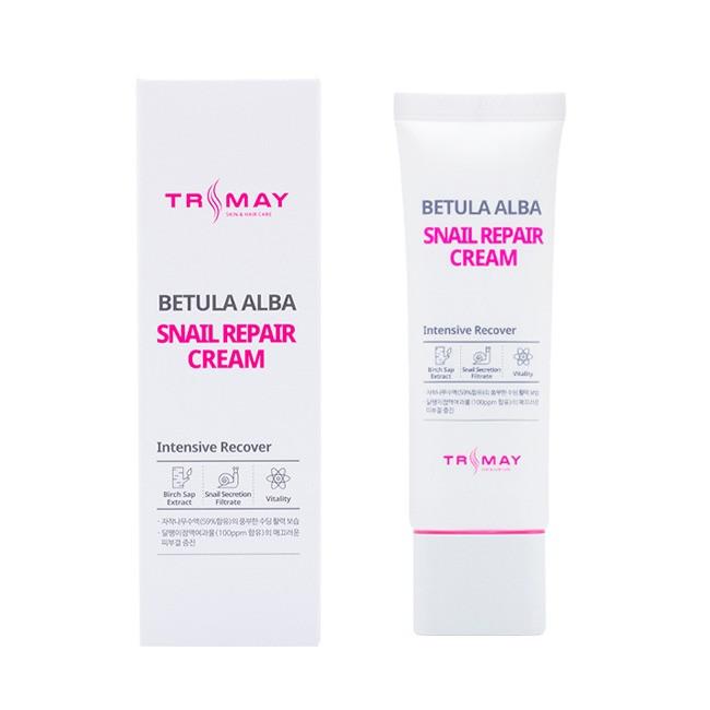 Крем с муцином улитки и березовым соком Trimay Betula Alba Snail Repair Cream