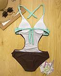 Суцільний жіночий купальник монокіні р.L, фото 2