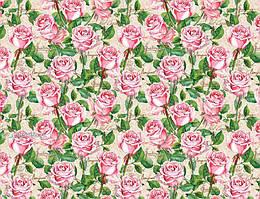 """Подарочная бумага для упаковки """"Розы"""", 5 шт/уп"""