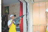 Расширение дверного проема до 10 см.