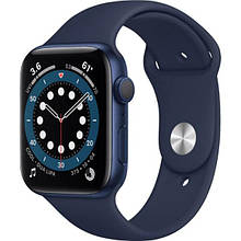 Apple Watch Series 6 GPS 44mm Blue Aluminum Case w. Deep Navy Sport B. (M00J3)