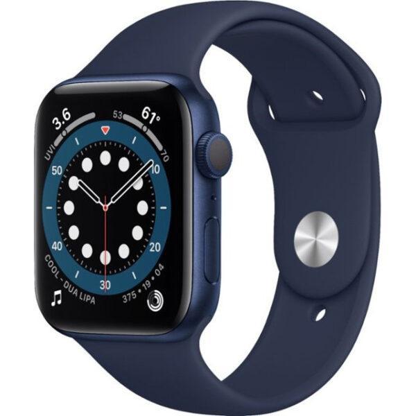 Apple Watch Series 6 GPS + Cellular 44mm Blue Aluminum Case w. Deep Navy Sport B. (M07J3)