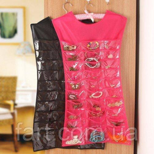 Органайзер для украшений маленькое черное платье Hanging Jewelry Organizer
