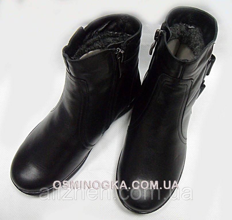 Зимние кожаные детские подростковые ботинки (сапоги) на мальчика тм