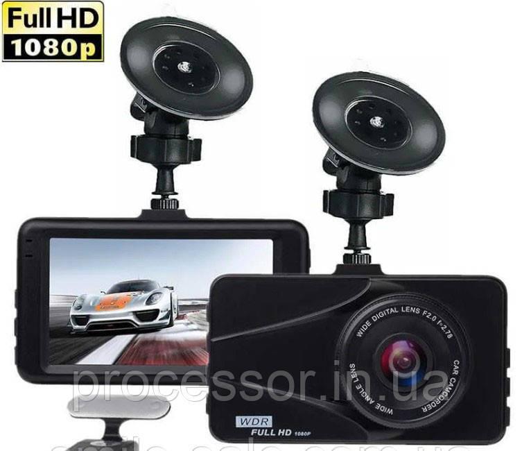 Відеореєстратор для автомобіля Full HD DVR T670G+ на 2 камери 1080P з HDMI виходом