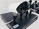 Комплект відеоспостереження 4 камери і реєстратор DVR Pro Vision NX-400 AHD 4ch Gibrid 4.0 MP H. 264, фото 3