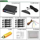 Парктронік Master MS-8 для переднього і заднього бампера з LED-дисплеєм Parking Sensor, фото 8