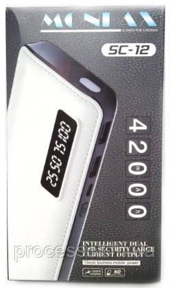 Моб. Зарядка POWER BANK Mondax sc-12m 42000mah з ж/к дисплеєм 2 виходи