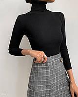 Жіночий гольф машинної в'язки рубчик з високим коміром (р 42-46) 77dmde1113, фото 1