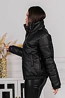 Куртка еко шкіра жіноча, 42,44,46,48 рр, № 1518-12