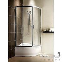 Душевые кабины, двери и шторки для ванн Radaway Душевая кабина с высоким поддоном Radaway Premium Plus A 30411-01-08N (хром/коричневое)