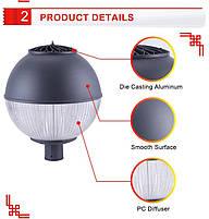 Світильник вуличний світлодіодний VL153B LED 30 Вт IP65 D450*H500mm, фото 6
