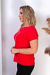 Жіноча футболка, бавовна, р-р універсальний 48-54 (червоний), фото 2