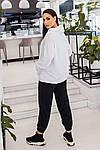 Спортивний костюм жіночий батал, турецька двунить, р-р 48-50; 52-54 (білий), фото 3