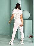 Женский спортивный костюм, тонкая вязка - х/б, р-р универсальный 42-46 (розовый), фото 4