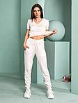 Женский спортивный костюм, тонкая вязка - х/б, р-р универсальный 42-46 (розовый), фото 2