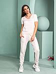 Женский спортивный костюм, тонкая вязка - х/б, р-р универсальный 42-46 (розовый), фото 5