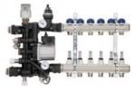 Коллектор Floor Controller 12B на двенадцать выходов FIV (Италия) в сборе с смесительным узлом